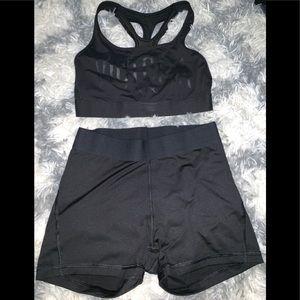 VSX Sport- Sports bra and shorts! NWOT